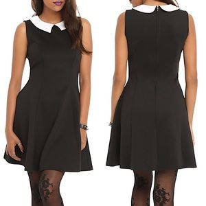Hot Topic Fit and Flare Sleeveless Black Dress